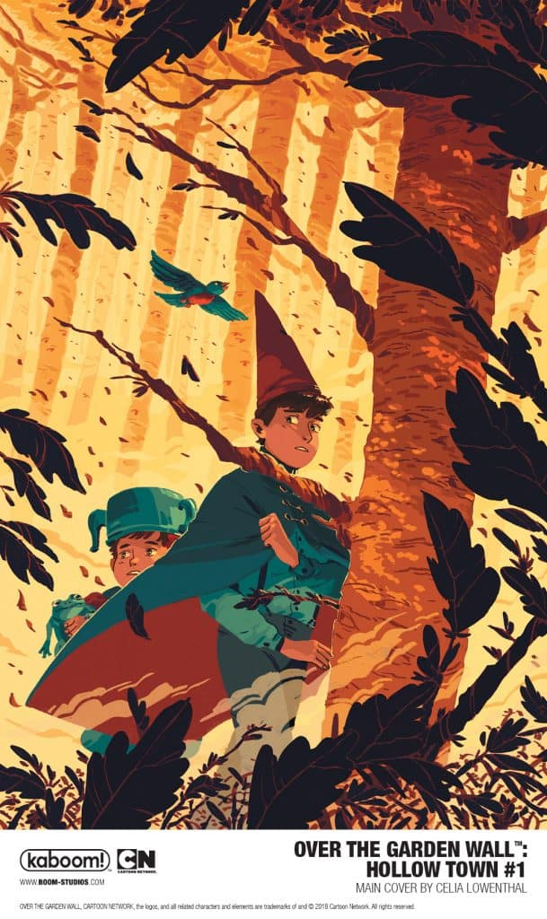over the garden wall hollow town is the latest release from boom studios award winning kaboom imprint home to comics for middle grade and younger - Over The Garden Wall Poster