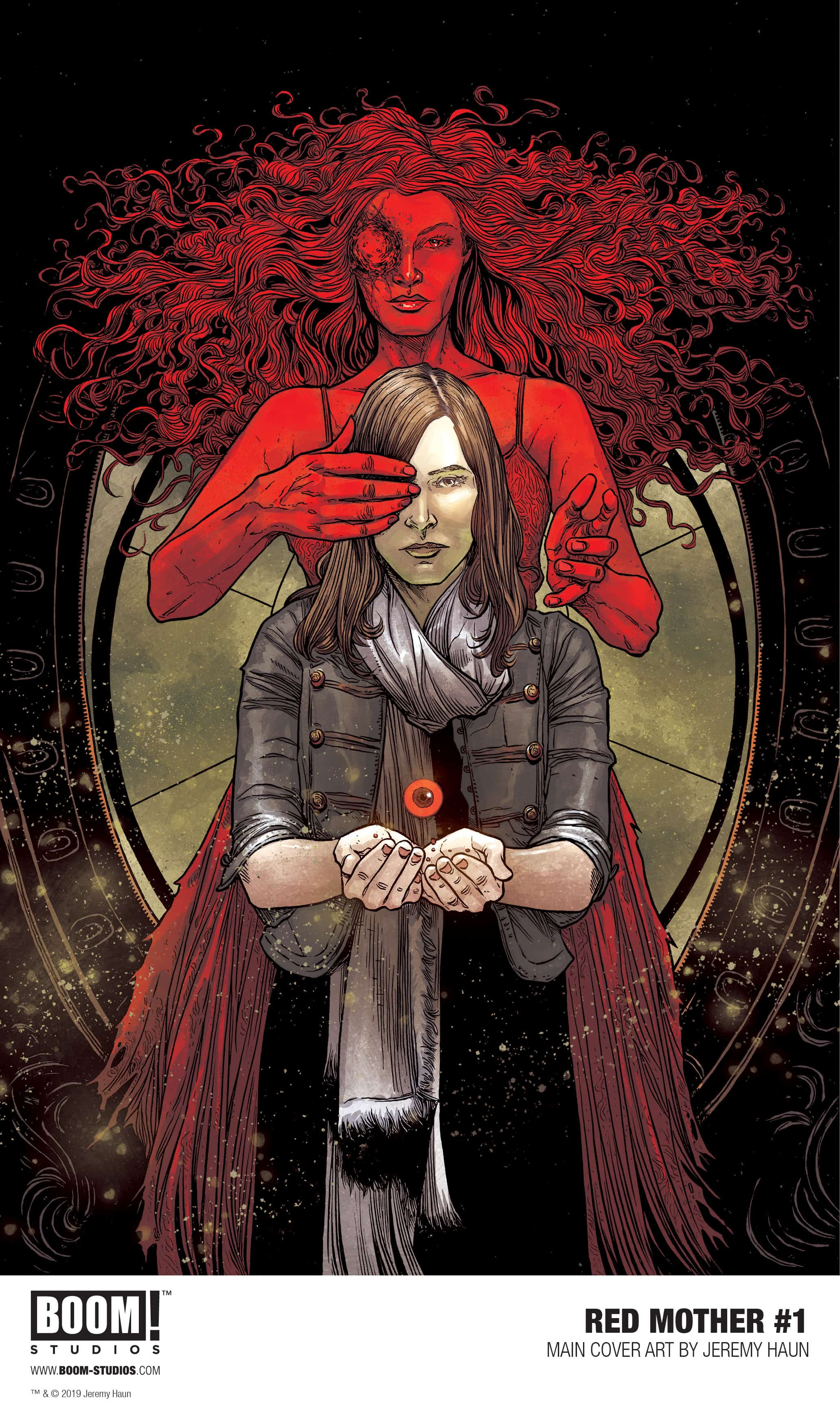 RED MOTHER serie de horror por jeremy haun e ilustrada pelo artista Danny Luckert.